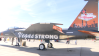 "An F-15 fighter jet emblazoned with ""Vegas Strong"" at Aviation Nation, Nellis Air Force Base, Nevada."