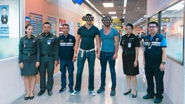 Joseph and Travis DaSilva, both 38 of San Diego, California, were arrested in Thailand
