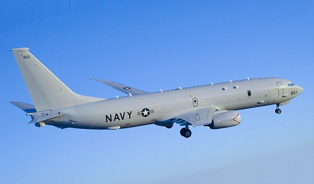 The Pentagon reported one of its Boeing P-8