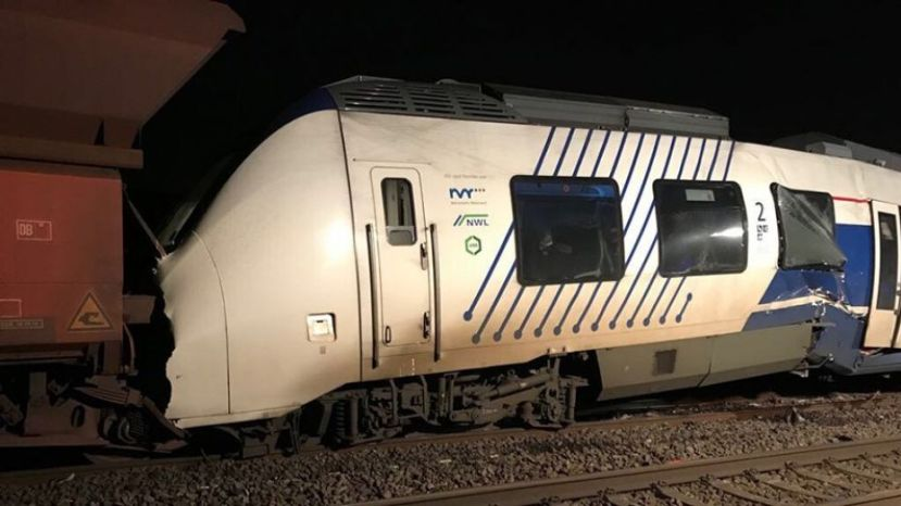 A passenger train hit a freight train in Germany