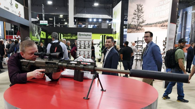 Bushmaster rifle displayed at a recent trade exhibition.