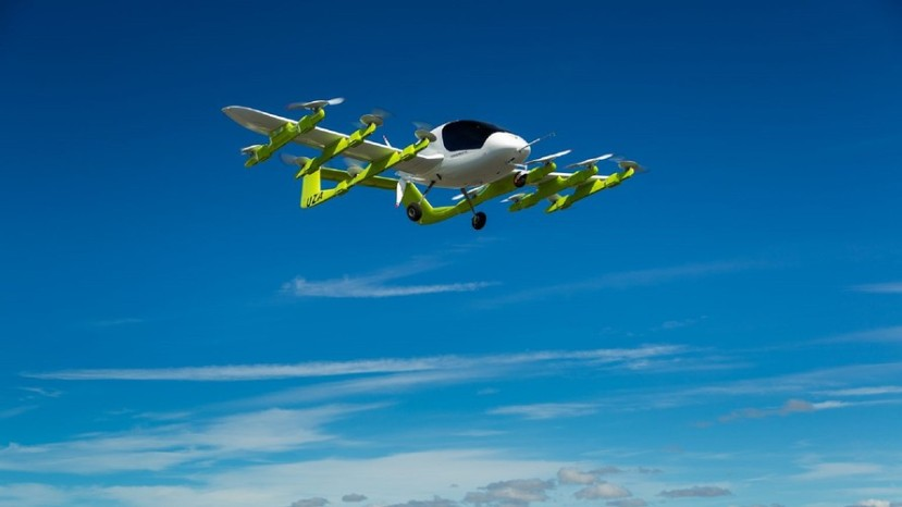 An air taxi, affectionately named Cora,