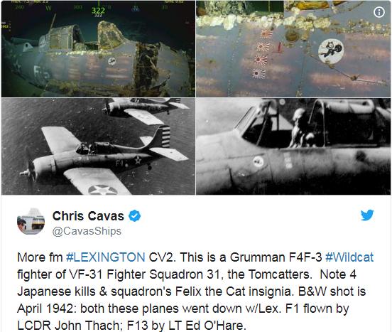 Paul Allen has discovered the missing wreck of the World War II carrier USS Lexington (CV-2)