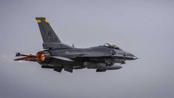 An Air Force F-16 jet