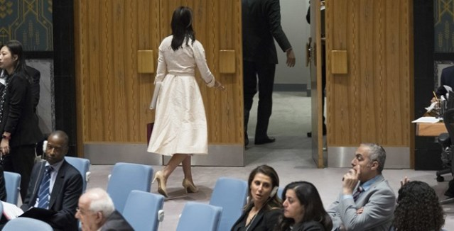 Nikki Haley walked out on the Palestinian UN speech