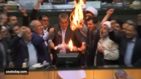 Iranian lawmakers shouted