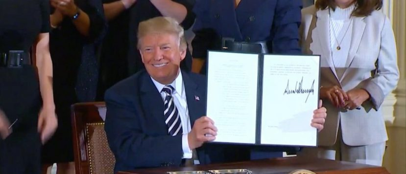 Screen Shot Trump Signs Exec Order For Military Spouses (Fox News: May 9, 2018)
