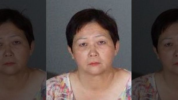 Helen Law was arrested for allegedly leaving a 6-year-old boy in a hot van.  (Alhambra Police Department)