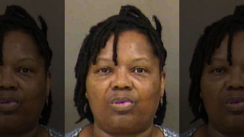 American Airlines employee Elvira Thomas was arrested