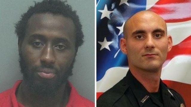 Wisner Desmaret, left, is accused of shooting Officer Adam Jobbers-Miller in the head.