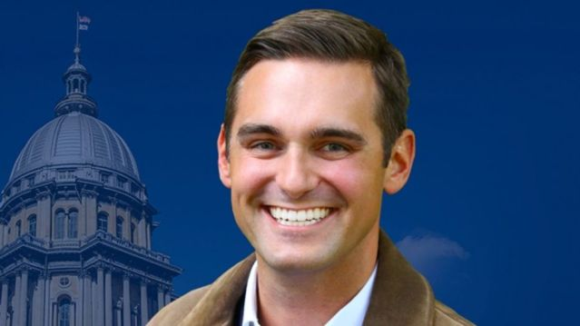 Illinois state Rep. Nick Sauer, a Republican, is accused of posting nude photos of his ex-girlfriend