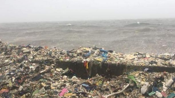 Waves of garbage are seen in the Philippines' Manila Bay