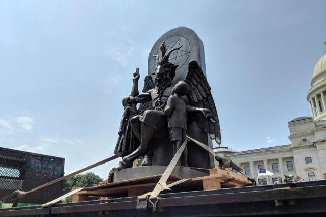 The Satanic Temple unveils its statue of Baphomet,