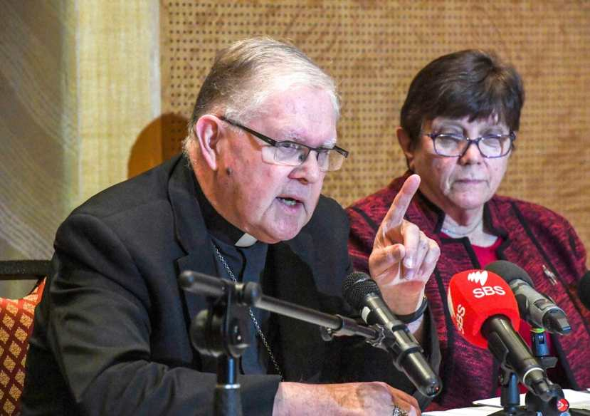 Archbishop Mark Coleridge, the president of the Australian Catholic Bishops Conference, speaks
