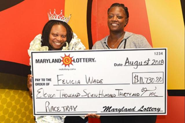A Maryland woman visited lottery headquarters three times in the past month to collect large jackpots.