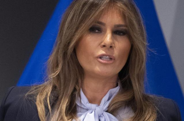 First lady Melania Trump speaks at a cyber-bullying summit