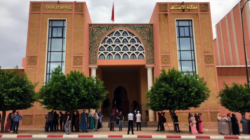 The courthouse of Beni Mellal, Morocco is pictured,