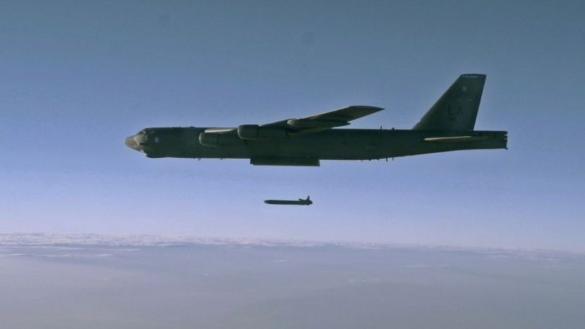 File photo - an unarmed AGM-86B Air-Launched Cruise Missile is released from a B-52H Stratofortress