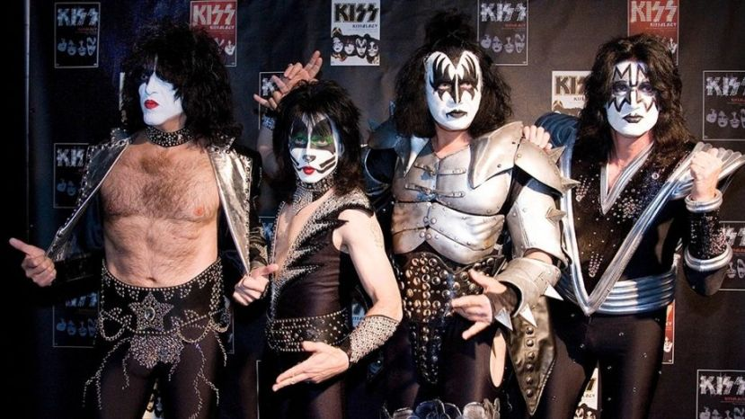 Paul Stanley, Eric Singer, Gene Simmons and Tommy Thayer (L-R) of the U.S. rock group KISS