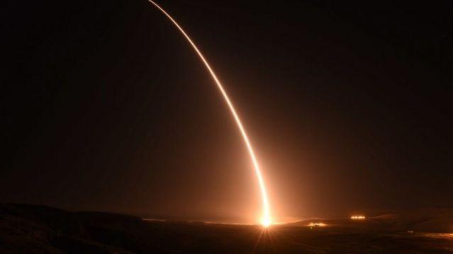 File photo - An unarmed U.S. Air Force Minuteman III intercontinental ballistic missile launches