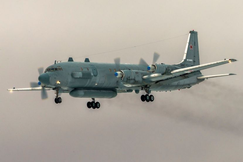 FILE In this file photo taken on Saturday, March 4, 2017, The Russian Il-20 electronic intelligence plane of the Russian air force