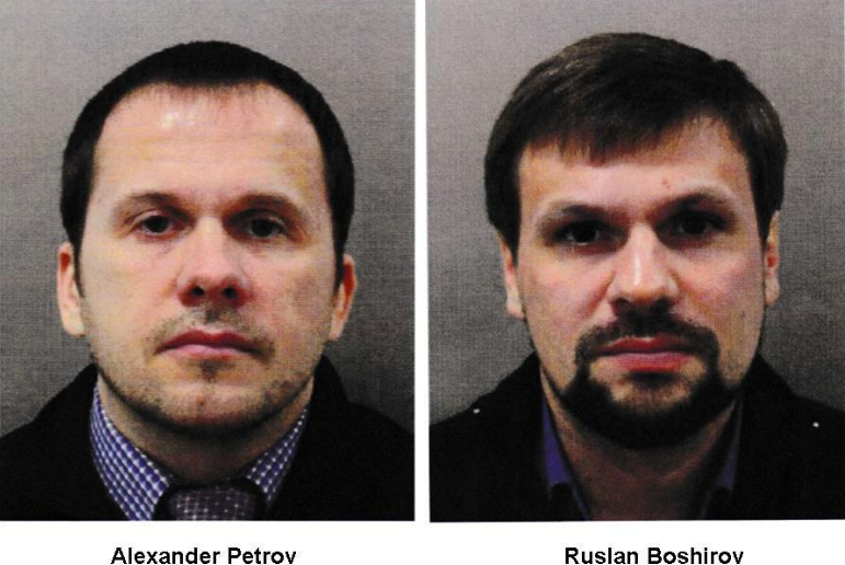 Alexander Petrov and Ruslan Boshirov, who were formally accused of attempting to murder