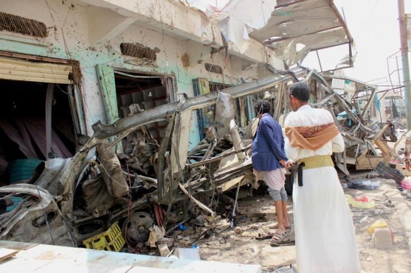 A Saudi-led airstrike Sunday hit a bus carrying children
