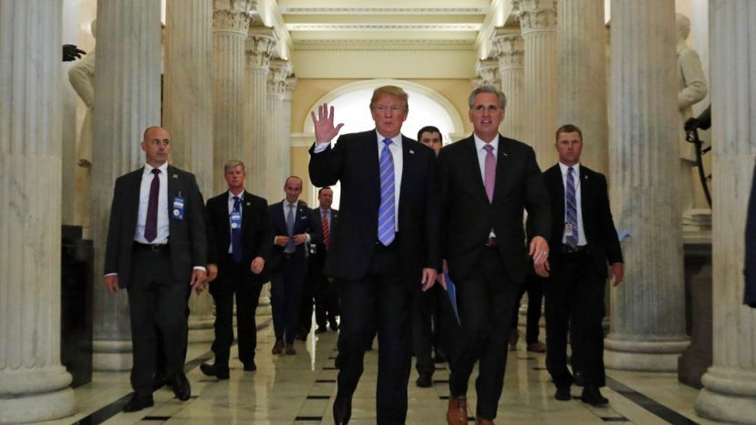 President Trump and House Majority Leader Kevin McCarthy