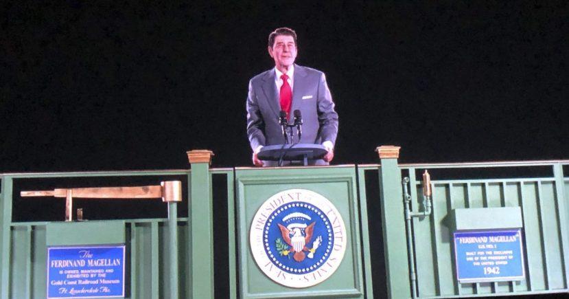 Former President Ronald Reagan, hologram