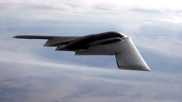 The B-2 flies over the Utah Testing and Training Range