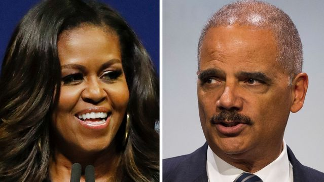 Michelle Obama and Eric Holder
