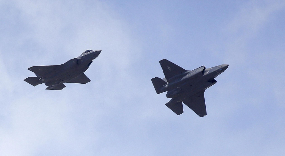 Two F-35 jets arrive at it's new operational base