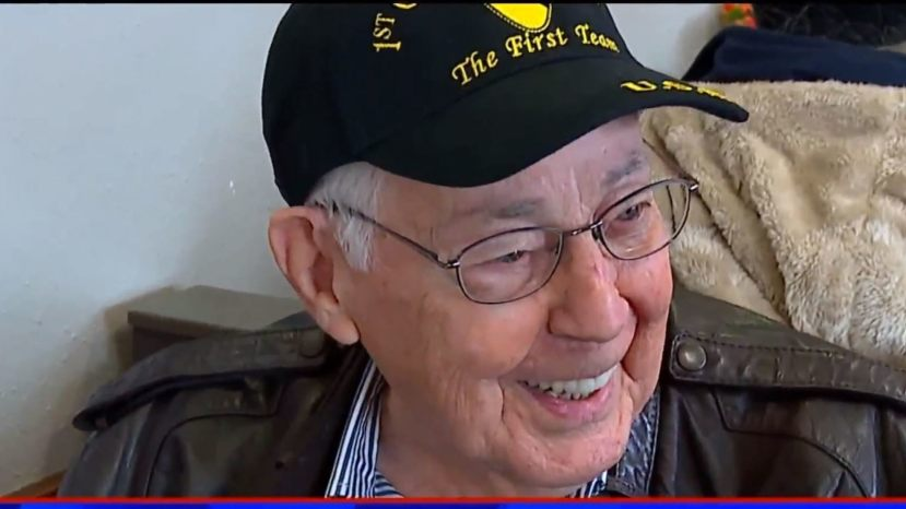 Ernie, a 92-year-old veteran