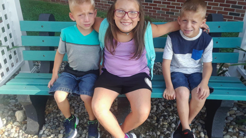 Alivia Stahl, center, and her twin brothers, Xzavier and Mason Ingle.