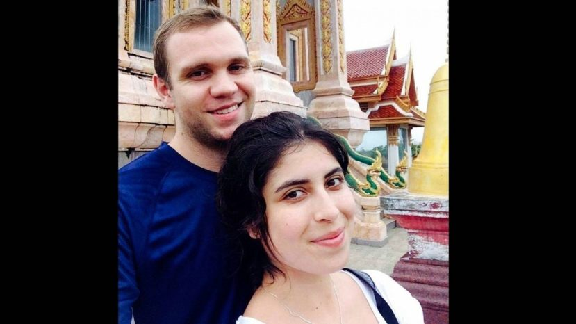 Matthew Hedges [left] with his wife Daniela Tejada.