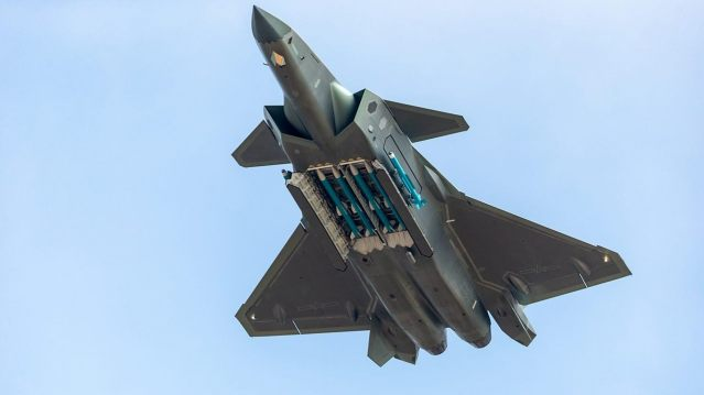 Fighter aircraft J-20 of People's Liberation Army Air Force