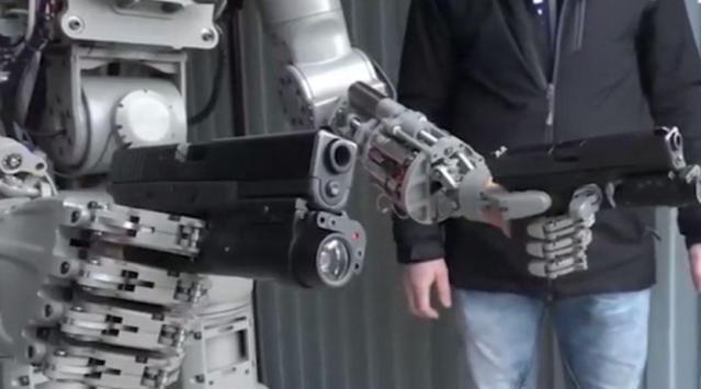 The terminator-style robot