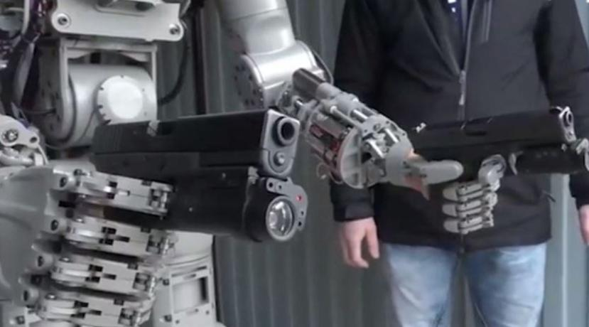 The terminator-style robot