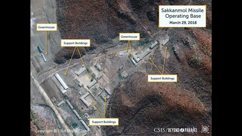 The satellite image of the base in Sakkanmol,