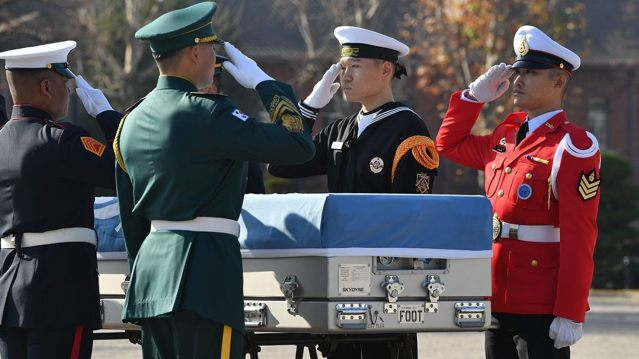 United Nations Command honor guards