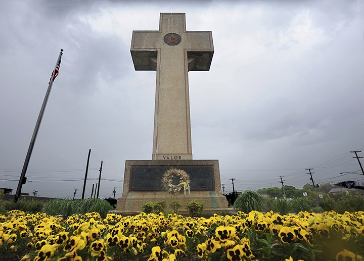 War I memorial cross is pictured in Bladensburg, (Algerina Perna /The Baltimore Sun via AP, File)