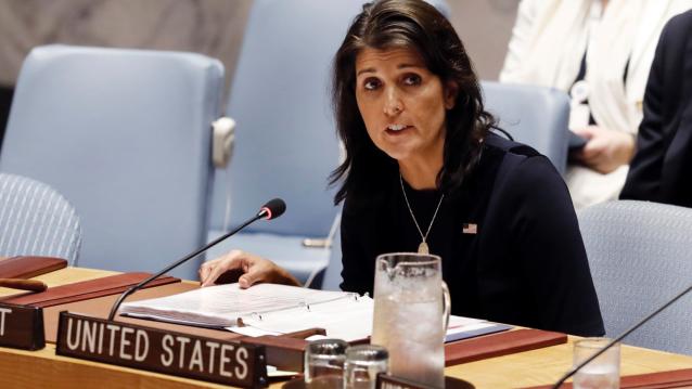 U.S. Ambassador Nikki Haley