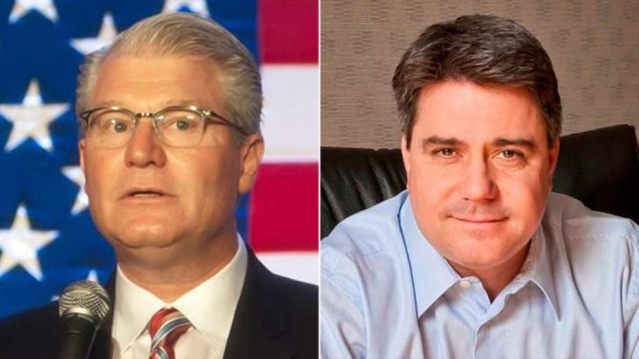 Local 98 union leader John Dougherty, left, and Philadelphia City Councilman Robert Henonwere