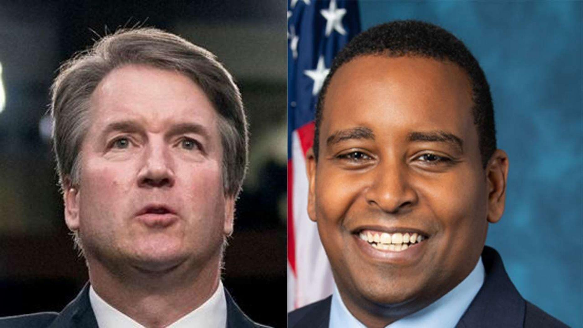 Rep. Joe Neguse, D-Colo.(right)Supreme Court Justice Brett Kavanaugh (left)