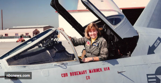 Rosemary Mariner, who became the Navy's first woman to fly a tactical fighter jet in 1974,