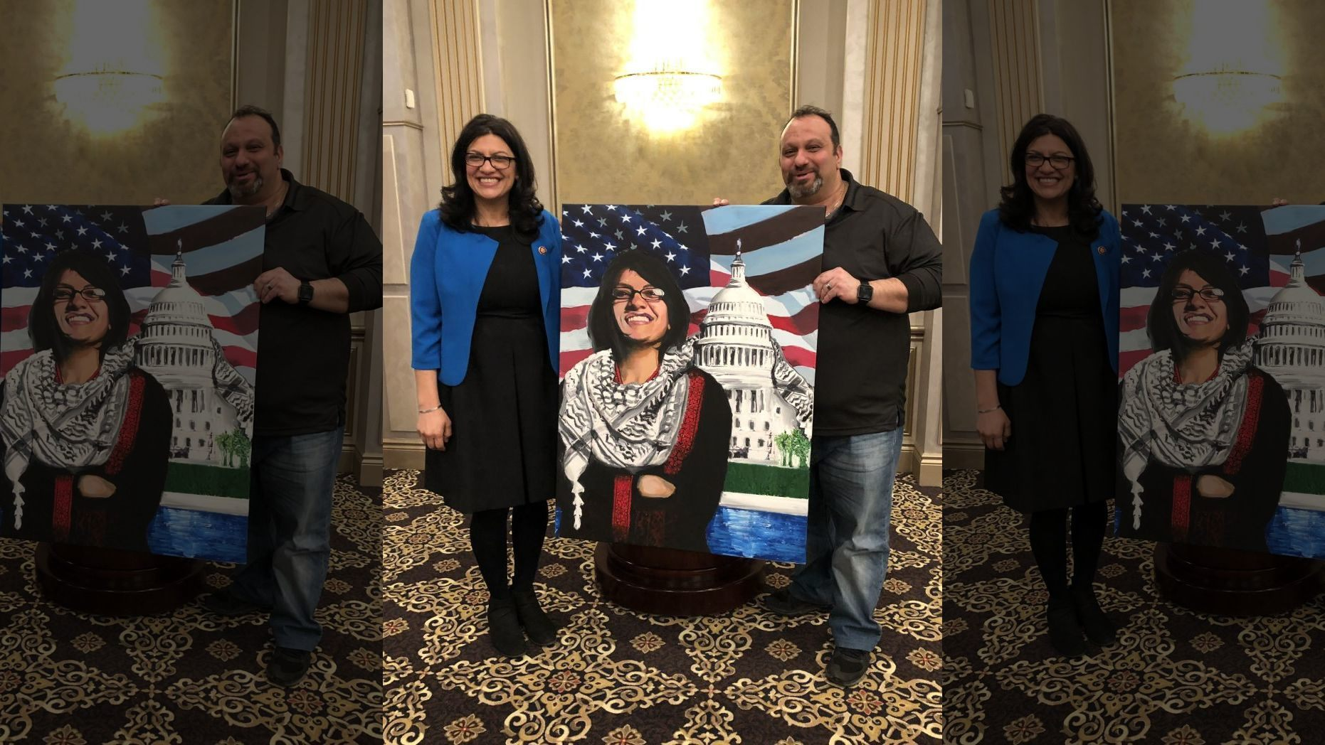 Rashida Tlaib was photographed with Abbas Hamideh,
