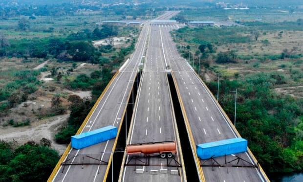 The Tienditas bridge, on the border between Cúcuta, Colombia and Táchira, Venezuela,