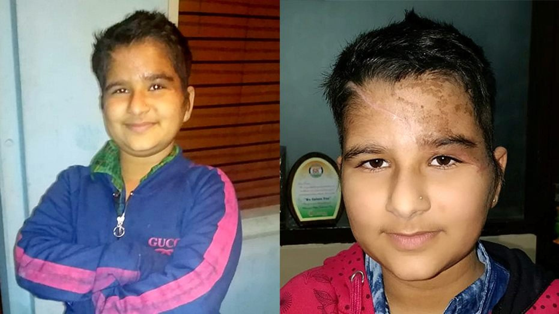 Kushpreet Kaur, aged nine,