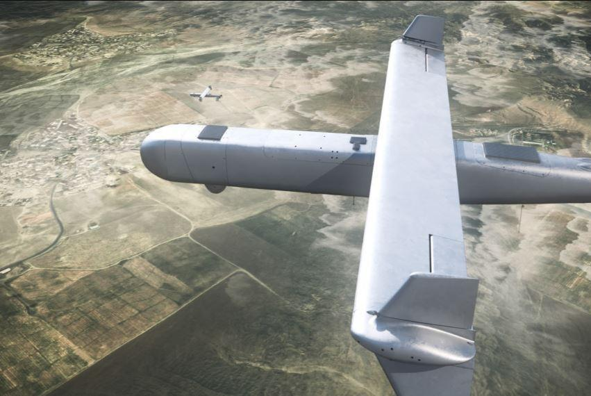"Israel Aerospace Industries unveiled its new ""Mini Harpy"" loitering drone missile"