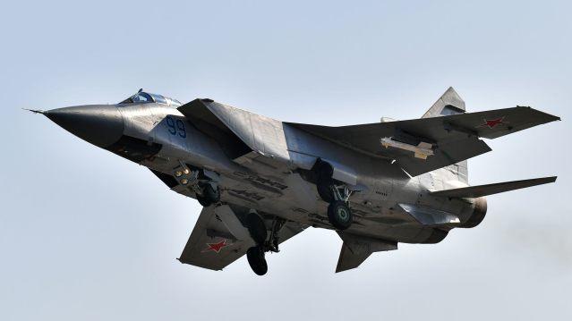 File photo -A Mikoyan MiG-31BM interceptor aircraft